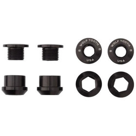 Wolf Tooth Chainring Bolts and Nuts 4 Pieces black